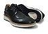 Sapato Masculino Casual Couro Preto Barcelona Design - Imagem 4