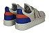 Tênis Masculino Velcro Couro Creme Azul/Laranja Barcelona Design | Urban Bull - Imagem 6