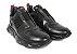 Tênis Sneakers Masculino Elastico Couro Preto Barcelona Design | Robust Bull - Imagem 2
