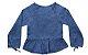 Bata feminina infantil jeans 4 ao 8 Barbicacho clube do doce - Imagem 2