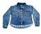 Camisa feminina infantil jeans renda 4 ao 8 clube do doce  - Imagem 1