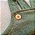 Jardineira Jeans Verde Militar Bolso Canguru - Imagem 3