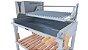 Parrilla Recoleta Inox / Grelha Regulável de Aço Inox 304 / Queimador com Inox Para Alta Temperarura - Imagem 4