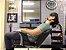 Cadeira Romana Hidráulica Reclinável para Barbeiro Barbearia, Preto com Prata - Dompel - Imagem 3