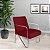 Poltrona/Cadeira Decorativa Sirena - Vermelho - Imagem 1