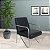 Poltrona Cadeira Decorativa Sirena - Corino Preto - Imagem 1
