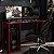 Mesa Gamer Escrivaninha Singapura 1 Nicho - Preto/vermelho - Imagem 1