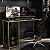 Mesa Gamer Escrivaninha Singapura 1 Nicho - Preto/amarelo - Imagem 1