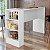 Bancada Balcão Gourmet Mesa Cozinha Multiuso Branca - Sem Porta - Imagem 1