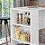 Bancada Balcão Gourmet Mesa Cozinha Multiuso Branca - Sem Porta - Imagem 3