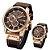 Relógio Curren 8291 Quartz Prova D`Agua pulseira em couro  - Imagem 1