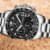 Relogio Lige Steel Black Masculino Aço Cronometro - Imagem 1