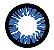 - SEM GRAU - Lente de contato AZUL com borda PRETA  - BT SERIES  AMBER - Imagem 2