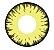 -SEM GRAU- Lente de contato AMARELA com borda PRETA - VAMPIRE YELLOW - Imagem 1