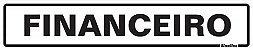 Placa Pvc  5 X 25 Financeiro - Sinalize - Imagem 1