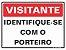 Placa Pvc 15 X 20 Visitante Identifique-se Com o Porteiro - Sinalize - Imagem 1