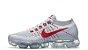 Tênis Nike Air VaporMax Flyknit Branco / Vermelho - Imagem 2