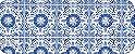 Tecido Círculo Azulejo Português - 1625 - 0,50cmx1,46 Mts - Imagem 2