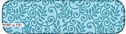 Tecido Tricoline Círculo Floral Azul -2101 - 50cmX1,46cm - Imagem 1