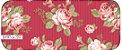 Tecido Círculo Floral Viena Vermelho - 2257 - 0,50cmx1,46 Mts - Imagem 1