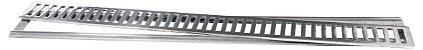 Grelha com Porta Grelha em Alumínio Polido 10x100cm LGMAIS - Imagem 1