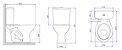 Bacia para Caixa Acoplada P-111 CR37 Izy Creme Deca - Imagem 2