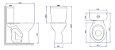 Bacia para Caixa Acoplada P-115 GE17 Izy Conforto Branca Deca - Imagem 4