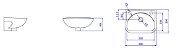 Lavatório para Banheiro L-15 GE17 Izy 39x29cm Branco Deca - Imagem 2