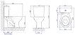 Bacia com Caixa Acoplada Dual Flux Izy Branca Deca - Imagem 3