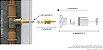 Conversor para Registro de Gaveta Celite x Acabamento Padrão Deca e Similares 131102 Blukit - Imagem 2