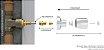 """Conversor para Registro de Gaveta Deca 1502 de 1 1/2"""" (Volante Amarelo) x Acabamento Padrão Deca e Similares 130126 Blukit - Imagem 2"""
