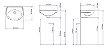Lavatório Suspenso para Banheiro IL-31 Sabará 42x32cm Branco Icasa - Imagem 2