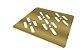 Grelha Quadrada para Caixa Sifonada 100mm Dourada 4023 Novii Ralo Linear - Imagem 3