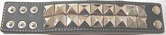 Munhequeira Pulseira Bracelete Rock Spike Piramide e Tachas Madstar - Imagem 3
