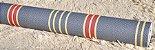 Papel de Parede Azul com Listras Vermelhas e Dourado - Imagem 4