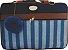 Kit bolsa maternidade 5 peças azul marinho listra - Imagem 3