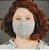Máscara Anatômica Feminina - Cinza - Imagem 1