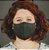 Máscara Anatômica Feminina - Verde Militar - Imagem 1
