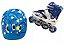 Patins Roller Inline Full Led - P (28-31) Azul  - Imagem 1
