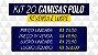 Kit com 20 Camisas Polo Masculinas | Oferta - Imagem 3