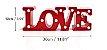 LETREIRO LOVE VERMLEHO - Imagem 4