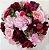 Buquê de Noiva Camélia Grande Marsala e Rosa  - Imagem 1
