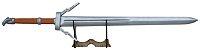 Espada The Witcher III Silver Sword Wolf (Réplica de Madeira) - Imagem 1