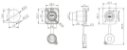 Conector RJ45 IP65 Fêmea 180° Para Painel (Tipo C) K2575 - Imagem 4