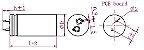 Super Capacitor Eletrolítico Radial 200F/2.7V D35H62 PTH S0016 - Imagem 2