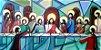 Quadro pintura em tela-Santa ceia cubista. 120 x 60 cm - Imagem 1