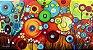 Quadro Decorativo Pintura em tela Abstrato Moderno Tam. 120x60cm - Imagem 1