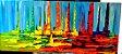 Pintura em tela abstrato veleiros coloridos - Imagem 1