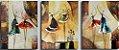 Quadro Decorativo Pintura em Tela Abstrato Moderno Bailarinas - Imagem 1