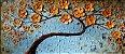 Quadro Decorativo Pintura em Tela Árvores Modernas Flores Espatuladas - Imagem 1